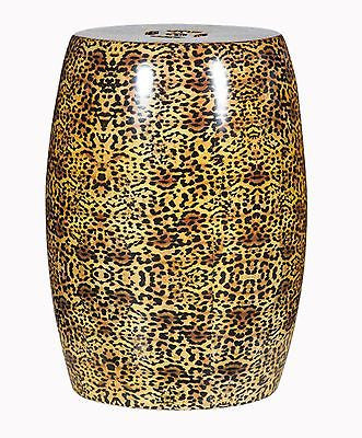Ceramic Garden Stool Cheetah Print 17.7 inches Tall X 14.2 inches Diameter - FineHomeDecor101
