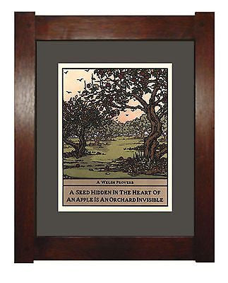 Apple Orchard from the Wisdom of Trees Series by Yoshiko Yamamoto Framed - FineHomeDecor101