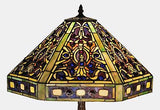 Tiffany Style Elizabethan FloorLamp with Amethyst Jewels 63 inches Tall