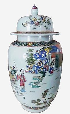 Handcrafted Chinese History Temple Jar 16 inches Tall - FineHomeDecor101