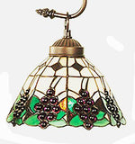 Grape 3 Light Stained Glass Chandelier - 24 inches Diameter