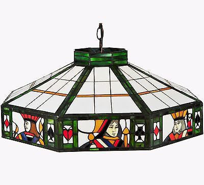 Stained Glass Pendant 24 inches Diameter Man Cave - FineHomeDecor101