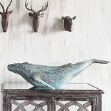 Huge Hand Painted Whale - 35 inches Long X 20 inches Deep X 9 inches Tall - FineHomeDecor101