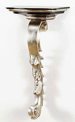 Huge Silver Gilt Wall Bracket 32.5 inches Tall - FineHomeDecor101