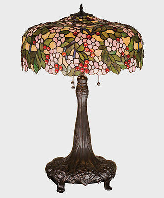 Cherry Blossom Table Lamp 31 inches Tall Tiffany - FineHomeDecor101