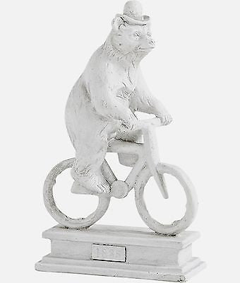Brandon the Bear on a Bicycle Sculpture - FineHomeDecor101