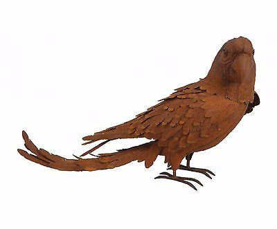 Rusty Metal Parrot Sculpture 25.5 inches Wide - FineHomeDecor101