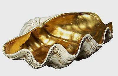 Oro (Gold) Large Shell Centerpiece 18.5 inches Wide × 12 inches Deep - FineHomeDecor101