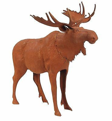 RUSTY METAL MOOSE Garden or Home Sculpture 21.26 inches Tall - FineHomeDecor101