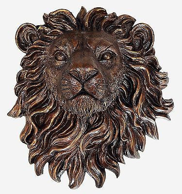 Lion Wall Plaque Art Sculpture - Regal King of the Beasts - FineHomeDecor101