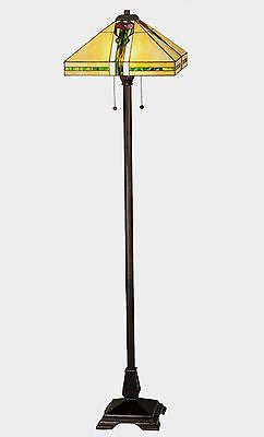 Parker Poppy Stained Glass Floor Lamp 63 inches tall - FineHomeDecor101