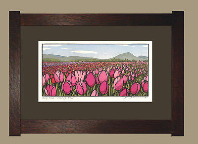 Arts and Crafts Block Print Signed and Limited by Yoshinko Yamamoto Framed - FineHomeDecor101