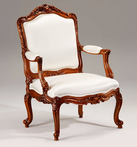 "Louis XV Style Carved Wood Chair Hand-carved in Italy 41 inches Tall X 27"" Wide - FineHomeDecor101"