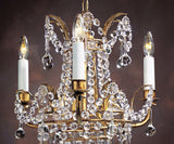 "Empire Style - Handcrafted in Italy - Crystal Chandelier 13.5"" X 15.5"""