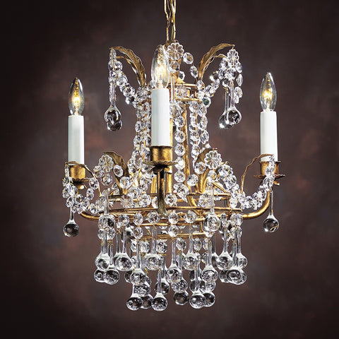 "Empire Style - Handcrafted in Italy - Crystal Chandelier 13.5"" X 15.5"" - FineHomeDecor101"