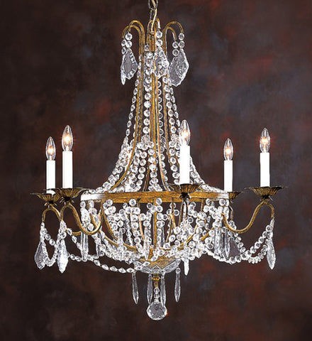 "Empire Style - Handcrafted in Italy - Crystal Chandelier 26"" X 29.5"" - FineHomeDecor101"