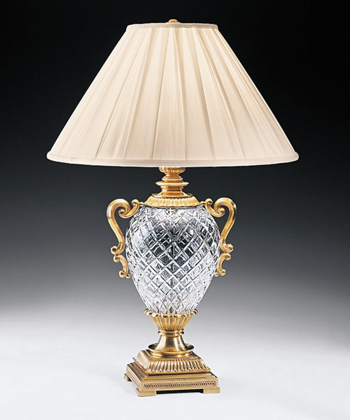 Brass and Cut Crystal Lamp 31.5 inches Tall - FineHomeDecor101