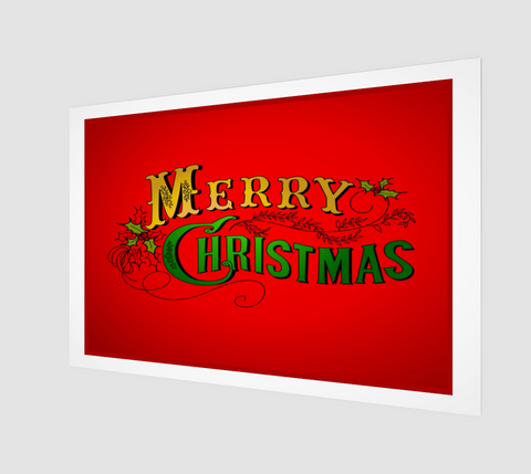 Merry Christmas Art Print - FineHomeDecor101