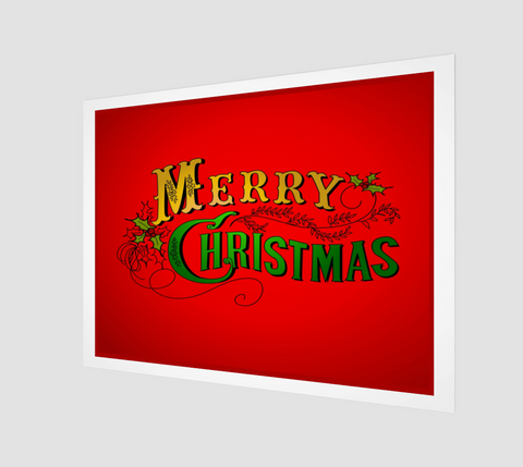 Merry Christmas Poster - FineHomeDecor101