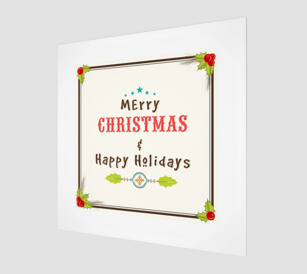 Merry Happy 7200 X 7200 - FineHomeDecor101