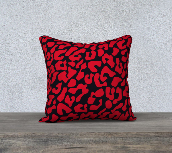 Heavy Red Leopard 18 X 18 - FineHomeDecor101