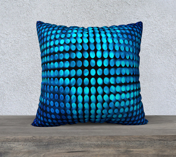 Blue Op Art 22 X 22 - FineHomeDecor101