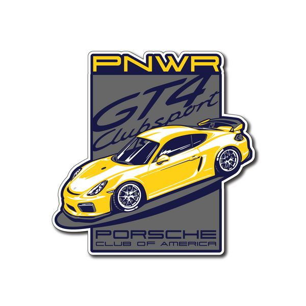 Pacific Northwest Region - February 2021 Die-Cut Sticker - Yellow GT4
