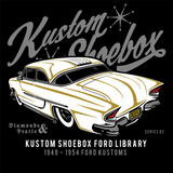 Sold Out - Kustom Shoebox Ford Library - Series 002 premium Zip Hoodie.