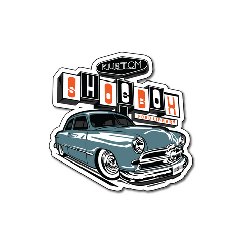Kustom Shoebox Library - Series 3 Sticker 3 inch