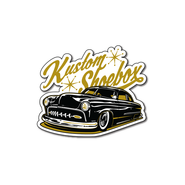 Kustom Shoebox Library - Series 1 Sticker 3 inch