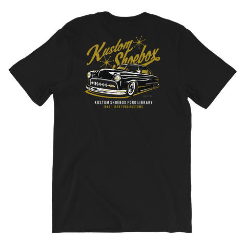 Kustom Shoebox Ford Library - Series 1.5 premium T-Shirt (Black)