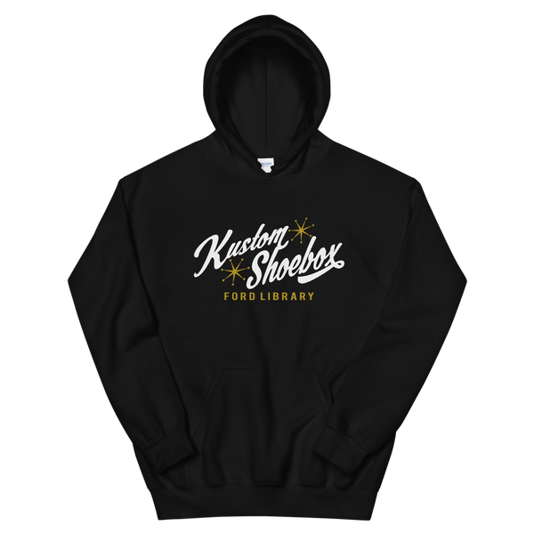 Kustom Shoebox Ford Library - KSFL Logo Hoodie. (Black)