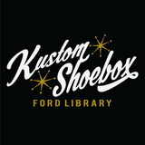 Kustom Shoebox Ford Library - Logo premium T-Shirt (Black)