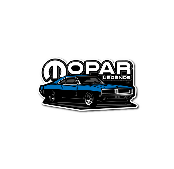 Mopar Legends Sticker #2 - Blue Charger Sticker