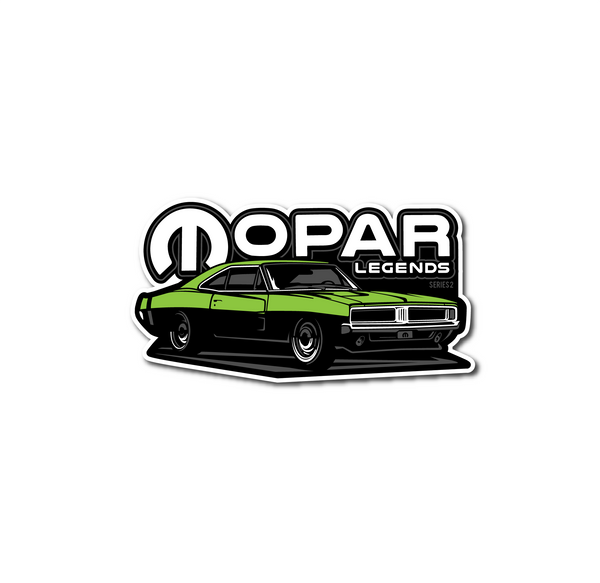 Mopar Legends Sticker #2 - Green Charger Sticker