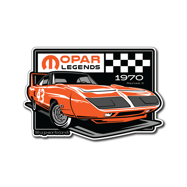 Mopar Legends Sticker #3 - Orange Super Bird Sticker