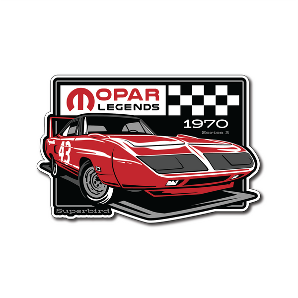 Mopar Legends Sticker #3 - Tor Red Super Bird Sticker