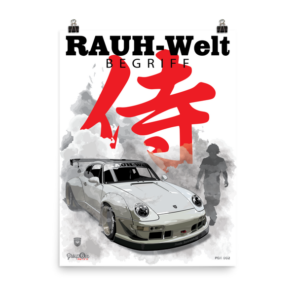 503 PDX 2 Samurai RWB Poster - Printed on photo Quality paper. 18 x 24 inch