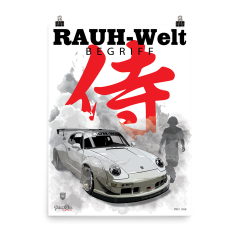 New, PDX 2 Samurai RWB Poster. Printed on photo Quality paper.