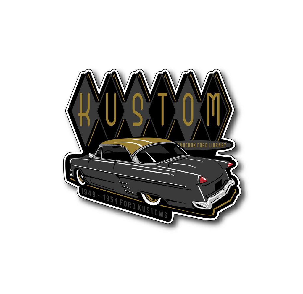 Kustom Shoebox Library - Series 05 Sticker 3.5 inch - 52 Gold