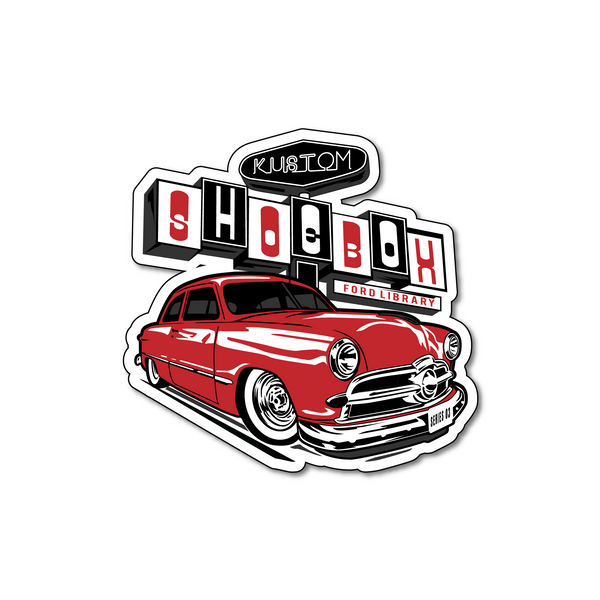 Kustom Shoebox Library - Series 3 (RED) Sticker 3 inch