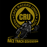 Cafe Racers - Track Division Shirt -Featuring Pacific Raceways, The Ridge and track maps on the back.