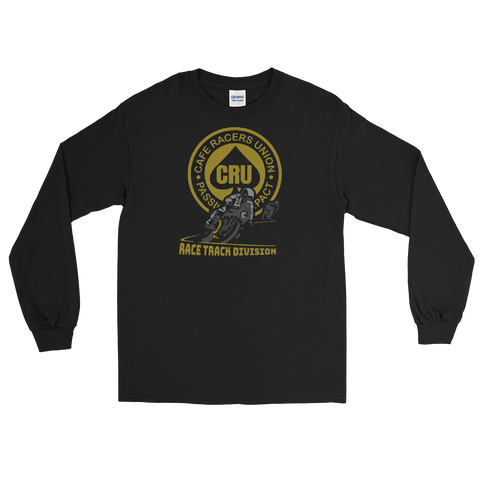 Cafe Racers - Track Division long sleeve Shirt - Featuring Pacific Raceways, The Ridge and track maps on the back.