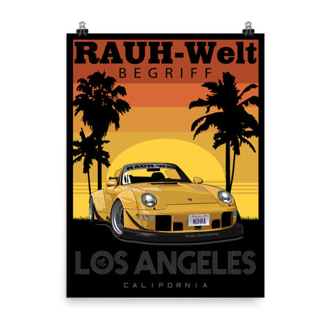 RWB Nohra - Nakai's personal car. Poster is on Photo quality paper. 18x24