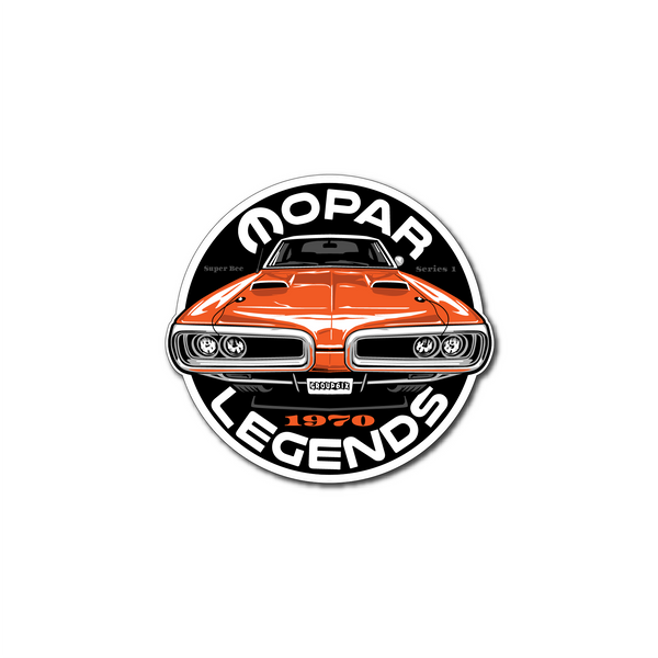 Mopar Legends Sticker (Orange) - Series 1 Sticker 3 inch