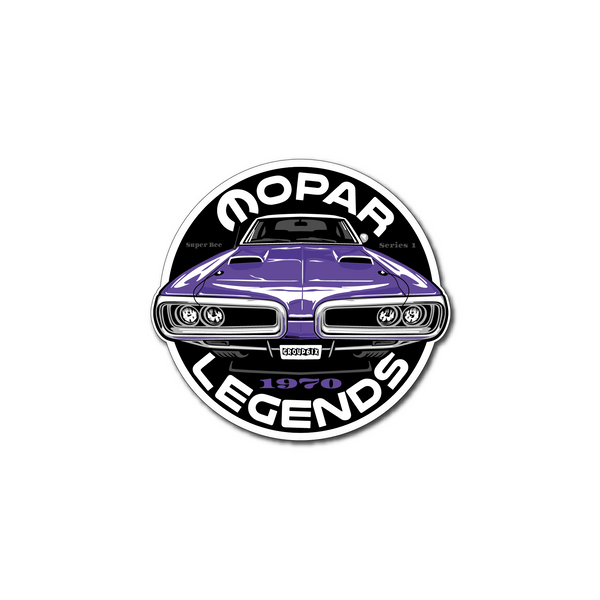 Mopar Legends Sticker (Plum) - Series 1 Sticker 3 inch