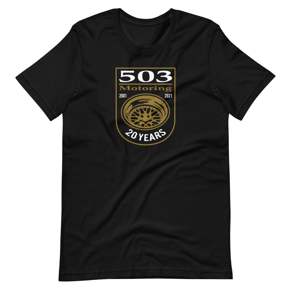 503 Motoring 20th Anniversary Wheel T-Shirt (limited time only) Series 002