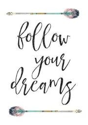 Wall Décor - Watercolor Tribal Arrows Print - Follow Your Dreams - The Kids Print Store