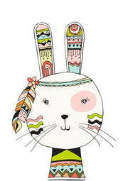 Wall Décor - Tribal Bunny Print - The Kids Print Store