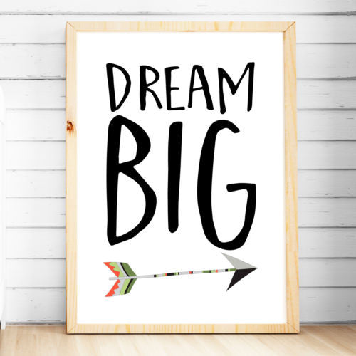 Wall Décor - Tribal Arrow Print - Dream Big - The Kids Print Store